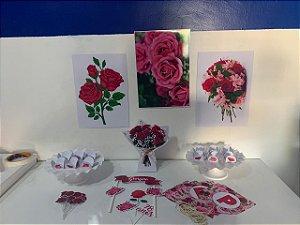 Kit Festa Personalizada - Flores