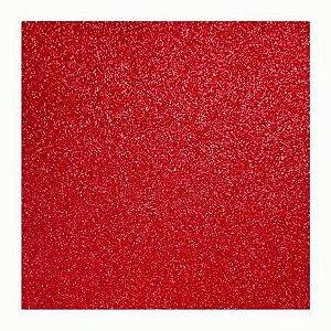 Placa Eva Glitter - Vermelho