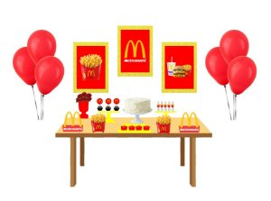 Kit festa Personalizado - Mc Donalds