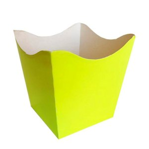 Cachepot Neon Amarelo - 10 unidades