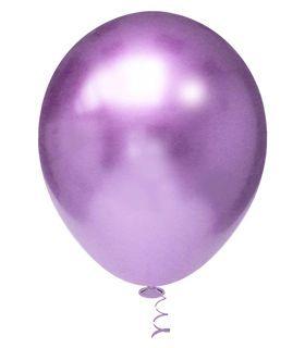 Balão Cromado Redondo N° 5  - Violeta- Ideal para Topo de Bolo