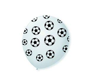 Balão látex 10 Polegadas - Futebol - 25 unidades