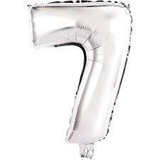 Balão Número  7 - 45 cm - Prata