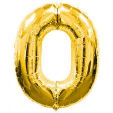 Balão Numero 0 Metalizado 45cm