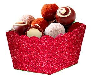 Cachepot  Papel Glitter Vermelho- 10 und