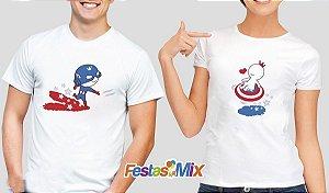 Kit Camisa Dia dos Namorados - Heróis Capitão