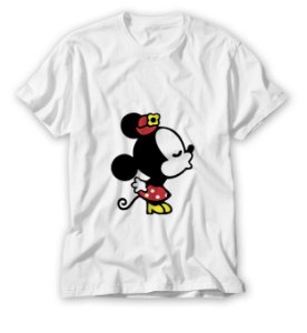 2 Camisas  Mickey e Minnie Kiss Me