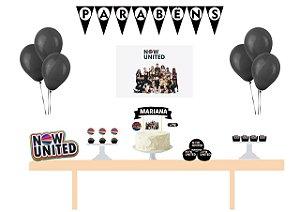 Kit Festa Personalizada Now United Black