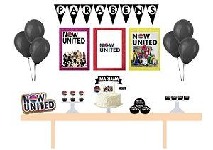 Kit Festa Personalizada Now United Black - Completa