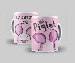 Caneca Cerâmica Coleção Disney  - Piglet