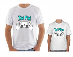 Kit Camisa Tal Pai x Tal Filho - Vídeo Game