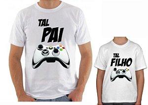 Kit Camisa Tal Pai x Tal Filho -Playstation