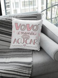 Almofada Personalizada - Vovó é Mamãe com Açúcar