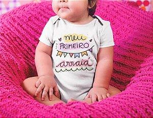 Body Personalizado para Bebê - Meu Primeiro Arraiá