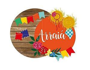 Painel Decorativo - 4 Laminas Arraiá - Festa Junina - 01 Unidade