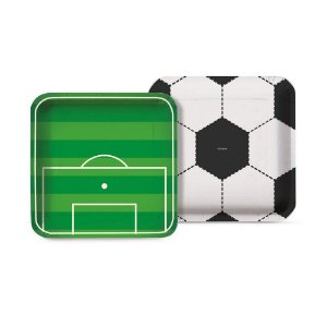 Prato Festa Futebol 18Cm - 8 unidades