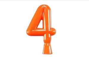 Vela de Aniversário Laranja Neon - Número 4