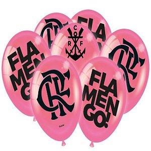 Balão Especial 9 Polegadas - Flamengo Rosa - 25 unidades