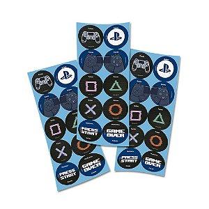 Adesivos Redondo - 30 Unidades - PlayStation
