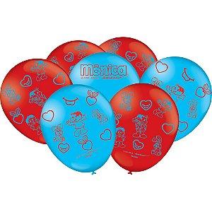 Balão Especial 9 Polegadas - Mônica - 25 unidades