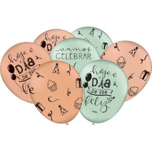 Balão Especial 9 Polegadas - Celebre a Vida - 25 unidades