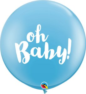 Balão Latex 3 Pés - Revelação - Azul