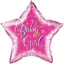 Balão Estrela Baby Girl- Chá de Bebê - 91 cm - Gigante