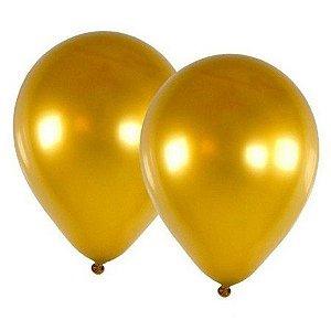 Balão Cromado Ouro n°9  - Art Latex