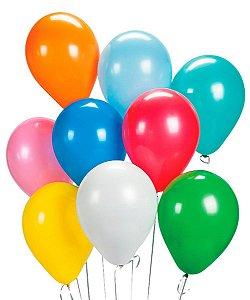 Balão Látex n°9 - Sortido - 50 Unidades
