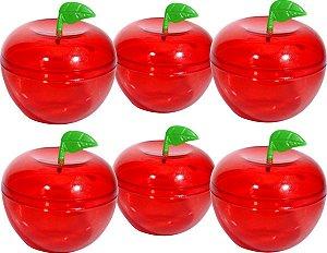 Maça Cristal Vermelha Pequena -  10 unidades