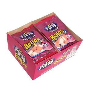 Mini Beijo Açucaradas com 12 pacotes de 15g cada - Fini