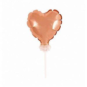 Balão Metalizado 12 cm - Rose Gold