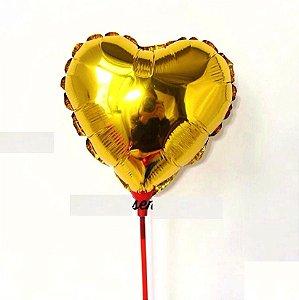 Balão Metalizado 12 cm - Dourado