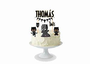 Topo de bolo personalizado - Panterinha Negra
