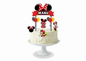 Topo de bolo personalizado - Minnie