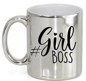 Caneca Cerâmica Prata Girl Boss