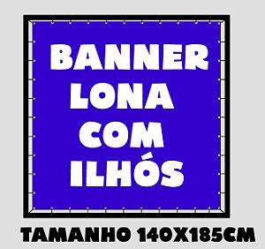 Banner Lona Brilho Com Ilhos - Impressão Digital 140X185