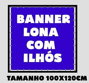 Banner Lona Brilho Com Ilhos - Impressão Digital 100x120