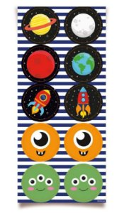 Adesivo Redondo - Festa Astronauta - 30 unidades