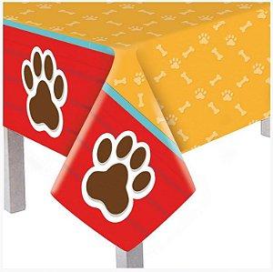 Toalha de Mesa Principal Plástica - Festa Cachorrinhos