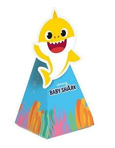 Caixa Mini Cone com Aplique - Baby Shark- 08 unidades