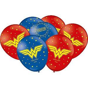 Balão Festa Mulher Maravilha - 25 Unidades
