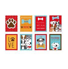 Cartaz decorativo - Festa Cachorrinhos -  08 unidades