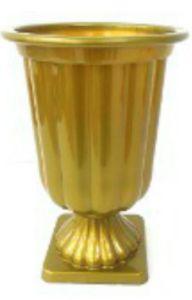 Vaso Grego de Plástico - Dourado Sólido