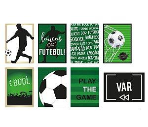 Kit Cartaz Decorativo Festa Futebol - 8 unidades