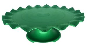 Mini Boleira - Verde Sólido Ondulada -  21cm