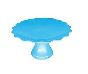 Mini Cake Plástico - Azul Claro Ondulada -  12cm