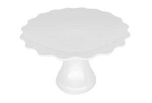 Mini Cake Plástico - Branca Ondulada - 12cm