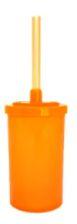 Short Drink Laranja Neon - Tampa com Canudo 200ml