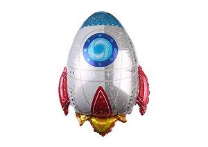 Balão Metalizado Foguete 74cm